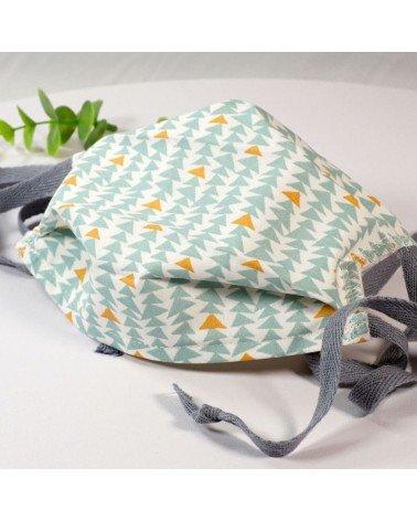 Masque de protection lavable, masque barrière 2 épaisseurs AFNOR, triangles