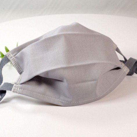 Masque de protection lavable, masque barrière 2 épaisseurs AFNOR, gris