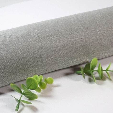 Boudin de porte en lin gris