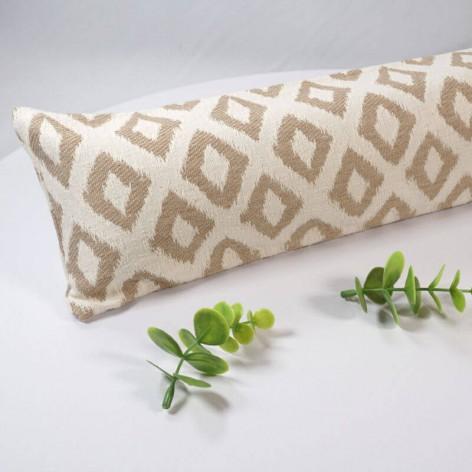 Boudin de porte 70 cm en tissu jacquard beige