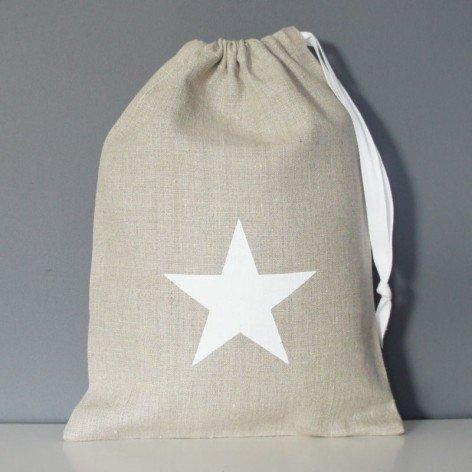 sac à jouets motif étoile