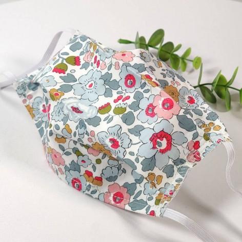 Masque de protection lavable, masque barrière 2 épaisseurs AFNOR, fleurs