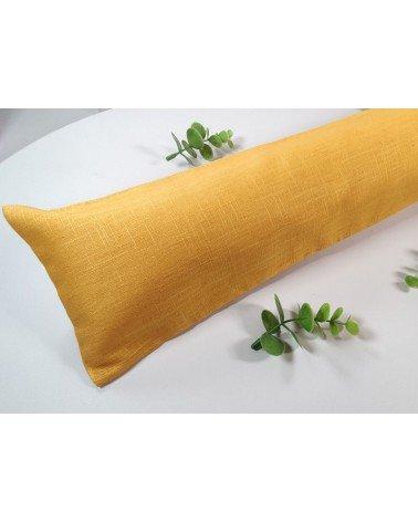 Boudin de porte en lin jaune moutarde