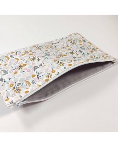 Pochette en coton fleuri