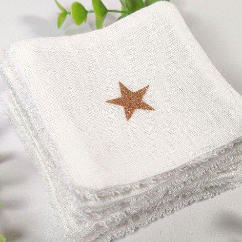 Lingettes démaquillantes lavables en lin blanc et éponge bambou