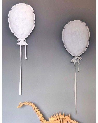 ballon mural en lin blanc pour chambre enfant