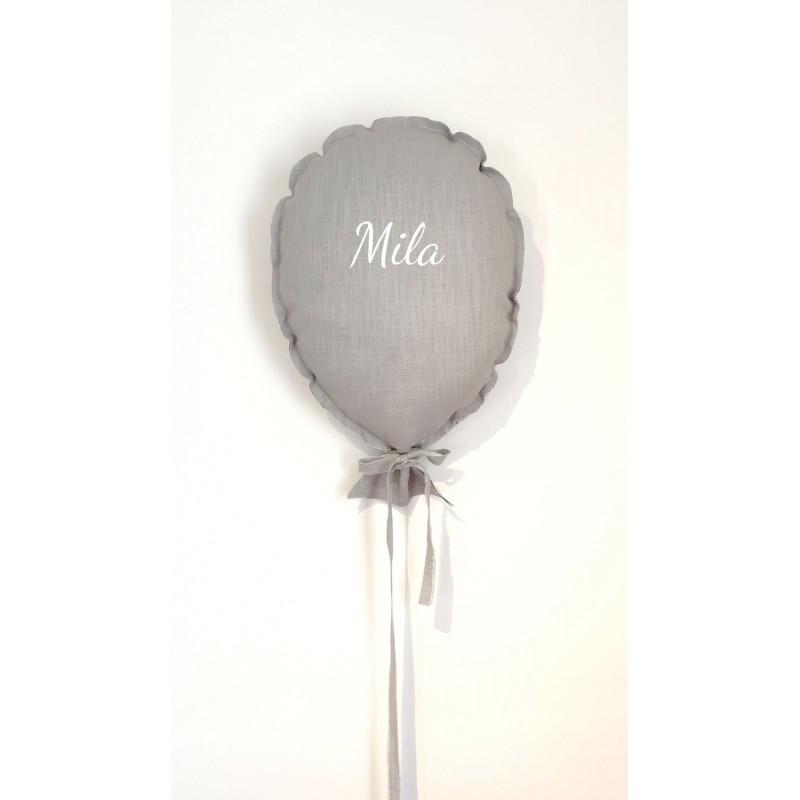 ballon mural personnalisé en lin gris clair
