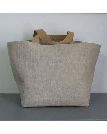 sac cabas femme lin naturel