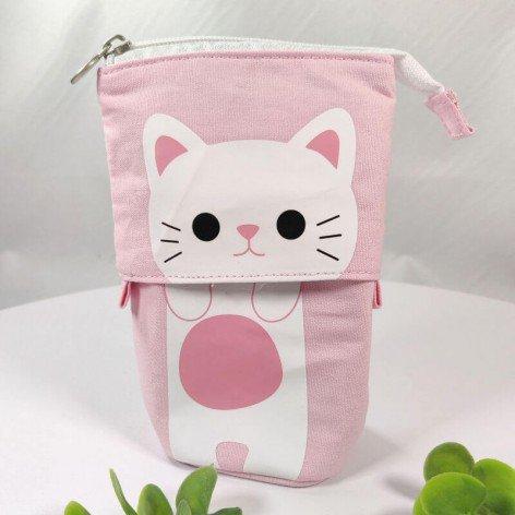trousse télescopique chat rose