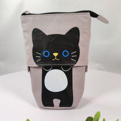 trousse télescopique chat coloris gris