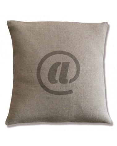 coussin lin motif arrobase 40x40 cm