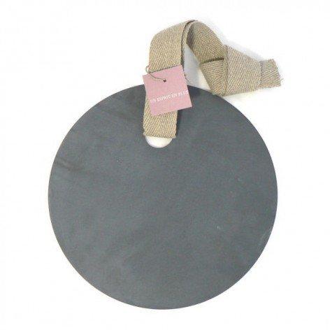 ETIQUETTE RONDE ZINC UN ESPRIT EN PLUS 27.5cm