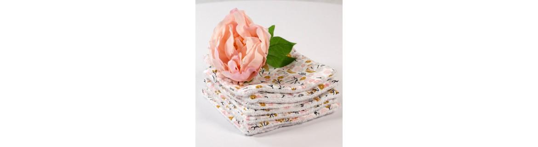 Lingettes lavables et réutilisables - carrés démaquillants